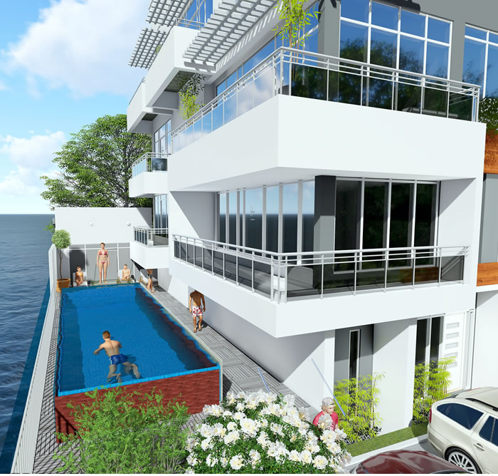 off plan waterfront apartments for sale in Amusa 4 in lekki lagos swimming pool
