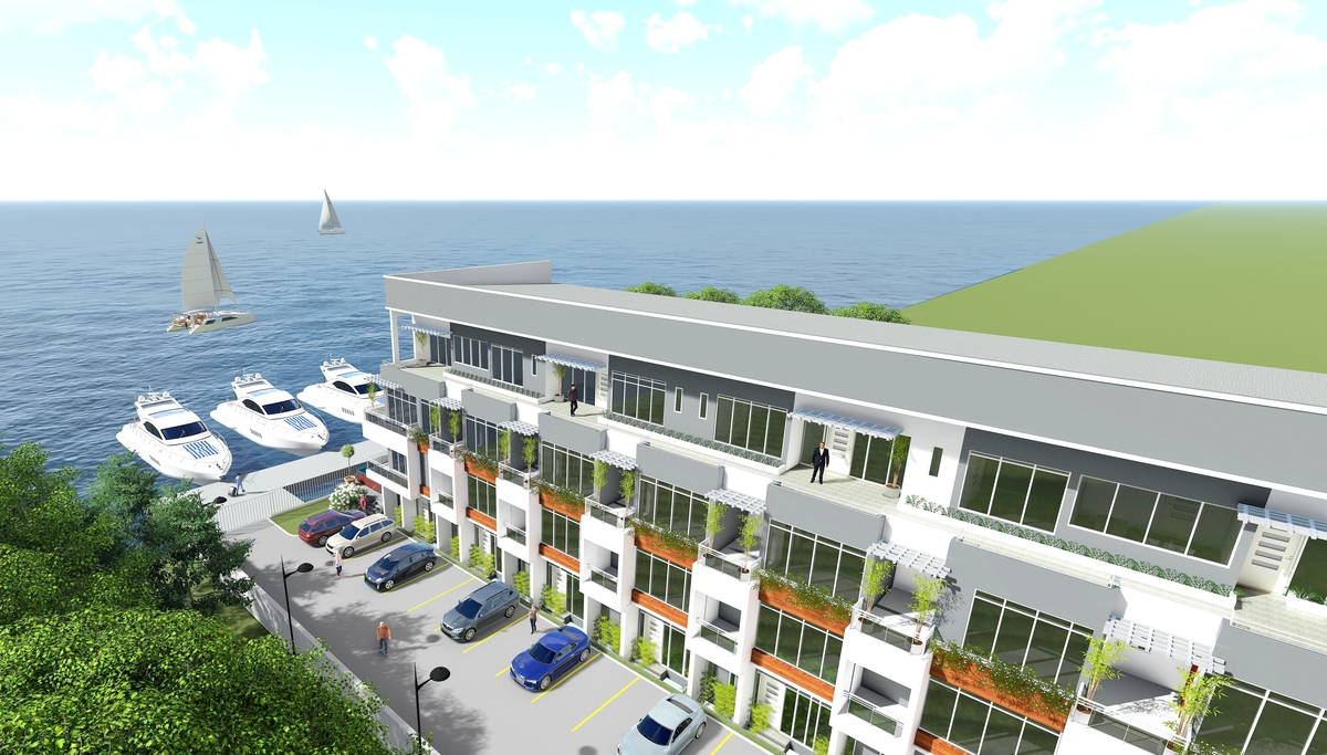 carrillion waterfront real estate project called Amusa 4 Inspired Living
